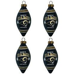 St. Louis Rams Teardrop Ornaments (Set of 4)