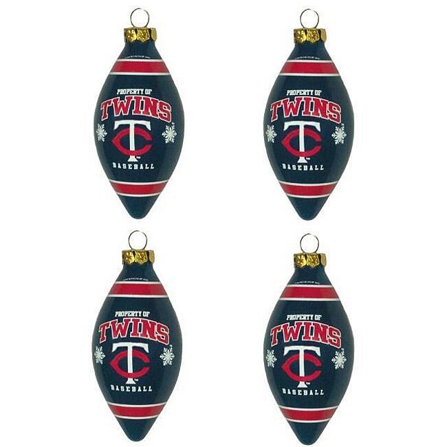 Minnesota Twins Teardrop Ornaments (Set of 4)