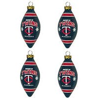 Minnesota Twins Teardrop Ornaments (Set of 4)