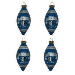 Dallas Mavericks Teardrop Ornaments (Set of 4)