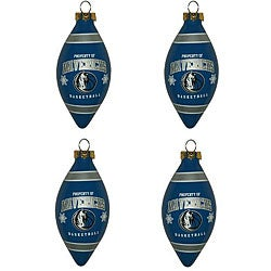 Dallas Mavericks Teardrop Ornaments (Set of 4)