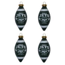 New York Jets Teardrop Ornaments (Set of 4)