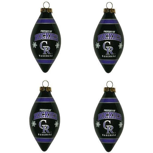Colorado Rockies Teardrop Ornaments (Set of 4)