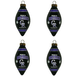 Colorado Rockies Teardrop Ornaments (Set of 4)
