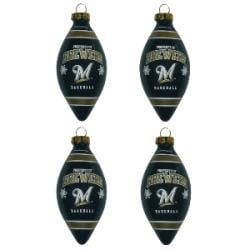 Milwaukee Brewers Teardrop Ornaments (Set of 4) - Thumbnail 1