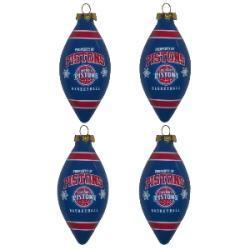 Detroit Pistons Teardrop Ornaments (Set of 4) - Thumbnail 1