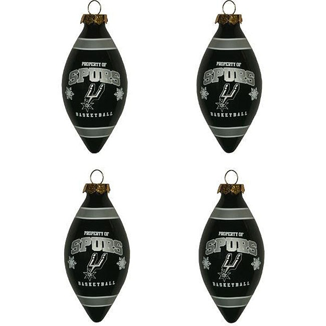 San Antonio Spurs Teardrop Ornaments (Set of 4)