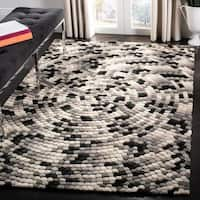 "Safavieh Handmade Soho Mosaic Modern Abstract Black Wool Rug - 3'-6"" X 5'-6"""