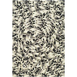 Safavieh Handmade Soho Mosaic Modern Abstract Black Wool Rug - 7'6 x 9'6 - Thumbnail 0