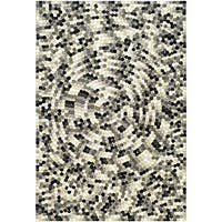 Safavieh Handmade Soho Mosaic Modern Abstract Black Wool Rug - 7'6 x 9'6