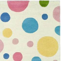 "Safavieh Handmade Soho Bubblegum Ivory/Multi N. Z. Wool Area Rug (7'6"" x 9'6"") - Thumbnail 1"