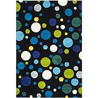 Safavieh Handmade Soho Bubblegum Black/ Multi N. Z. Wool Rug - 6' x 9'