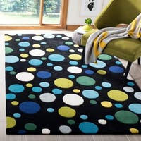 Safavieh Handmade Soho Bubblegum Black/ Multi N. Z. Wool Rug - 6' x 9'
