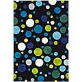 Safavieh Handmade Soho Bubblegum Black/ Multi N. Z. Wool Rug - 7'6 x 9'6
