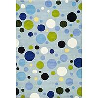 Safavieh Handmade Bubblegum Light Blue/ Multi N. Z. Wool Rug - 3'6 x 5'6