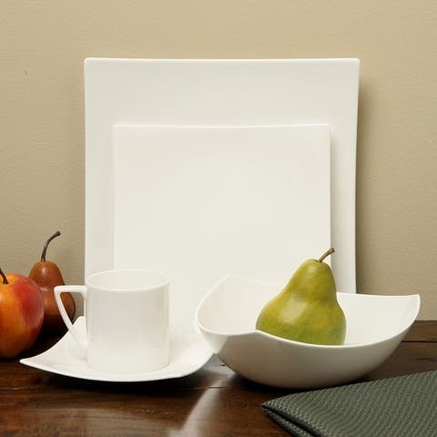 Red Vanilla Extreme White 5Pc Place Setting