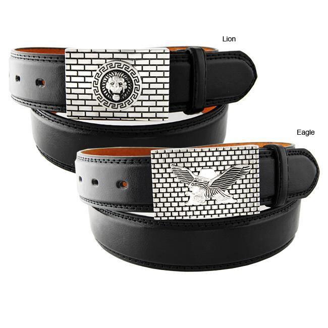 H2W Brand Men's Brick Buckle Belt