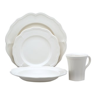 Red Vanilla Classic White 16pc Dinner Set