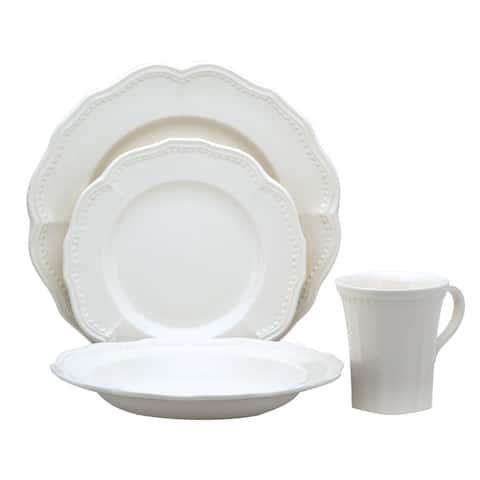 Red Vanilla Classic White 16pc Dinner Set