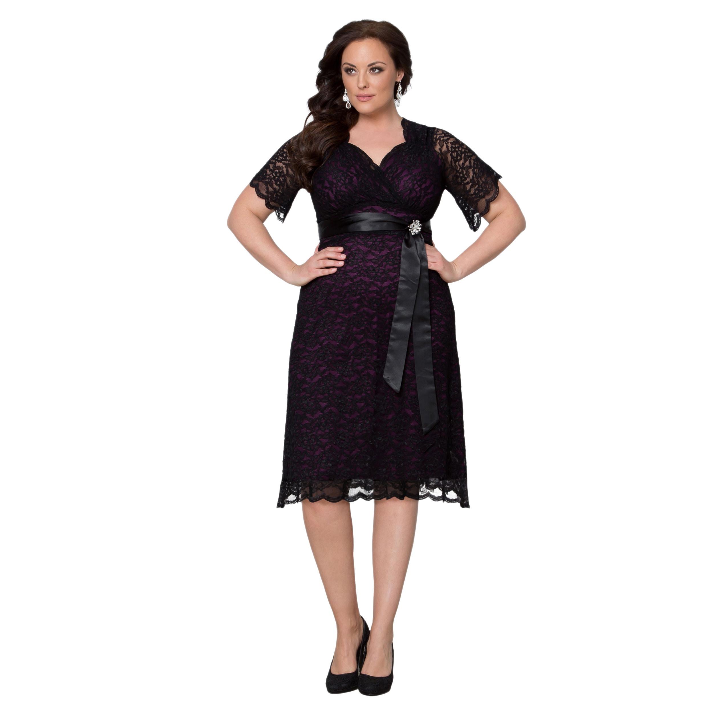 Kiyonna Clothing Women\'s Plus Size Retro Glam Dress