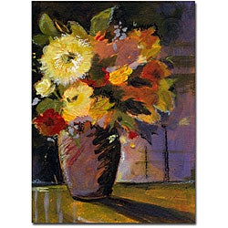Sheila Golden 'Purple Vase' Gallery-wrapped Canvas Art