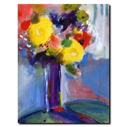 Sheila Golden 'Cobalt Vase' Gallery-wrapped Canvas Art