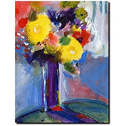 Sheila Golden 'Cobalt Vase' Gallery-wrapped Canvas Art