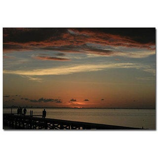 Patty Tuggle 'Bay Sunset' Gallery-wrapped Canvas Art