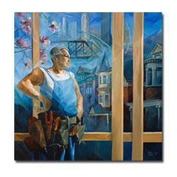 Yelena Lamm 'Spring in Pittsburgh' Gallery Wrapped Canvas Art - Thumbnail 1