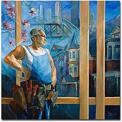 Yelena Lamm 'Spring in Pittsburgh' Gallery Wrapped Canvas Art - Thumbnail 0