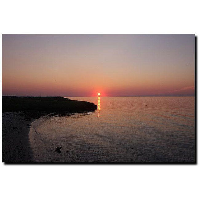 Cary Hahn 'Sunset Beach' Gallery-wrapped Canvas Art - Thumbnail 0