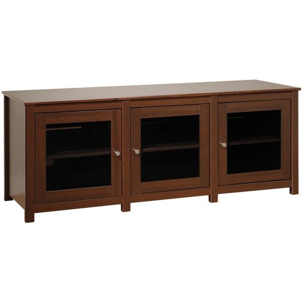Everett Espresso Flat Panel Plasma / LCD TV Console with Glass Doors