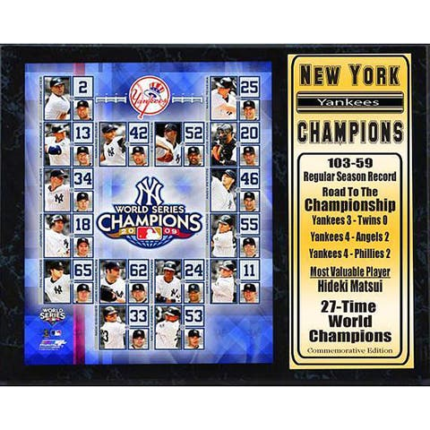 Yankees 2009 World Series Champions Plaque