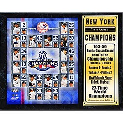 Yankees 2009 World Series Champions Plaque - Thumbnail 0