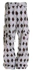 Sessions Men's White Gridlock Snowboard Pants