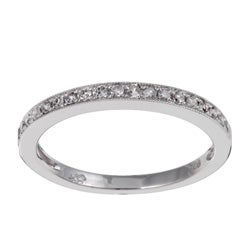 Unending Love Sterling Silver 1/10ct TDW Diamond Ring (I-J, I1-I2)