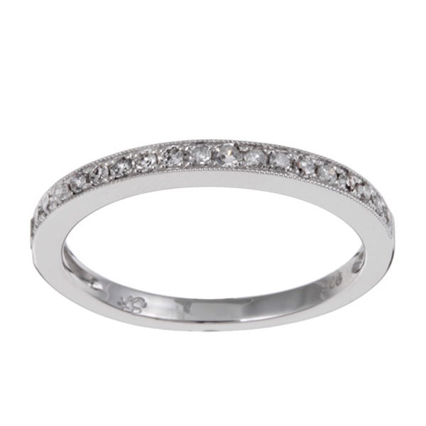 Unending Love Sterling Silver 1/10ct TDW Diamond Ring