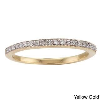 Unending Love 14k White Gold 1/10ct TDW Diamond Ring (I-J, I1-I2)