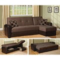 Chocolate Newman Sectional Sofa