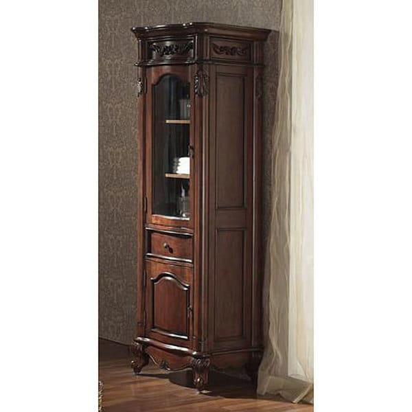 Shop Avanity Provence 24-inch Linen Tower In Antique Cherry Finish