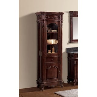 Avanity Provence 24-inch Linen Tower in Antique Cherry Finish