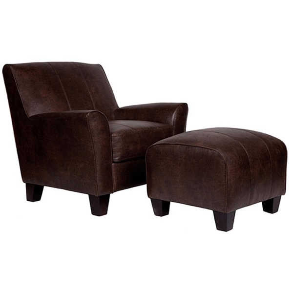 Handy Living Baxter Brown Renu Leather Arm Chair And