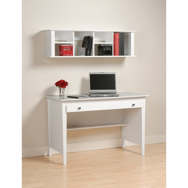 Winslow White Contemporary Computer Desk Free Shipping