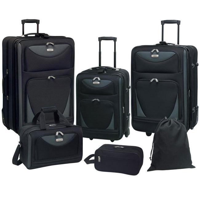 Travelers Club Skyview II 6,piece Luggage Set