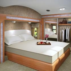 Accu-Gold Memory Foam Mattress 8-inch California King-size Bed Sleep System - Thumbnail 0