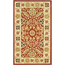 Safavieh Hand-hooked Kashan Red/ Ivory Wool Runner (2'6 x 4')