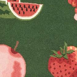 Safavieh Hand-hooked Fruits Hunter Green Wool Runner (2'6 x 4') - Thumbnail 2