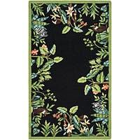 Safavieh Hand-hooked Safari Black/ Green Wool Rug - 2'9 x 4'9