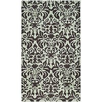 Safavieh Hand-hooked Damask Sage/ Chocolate Wool Runner (2'6 x 4')