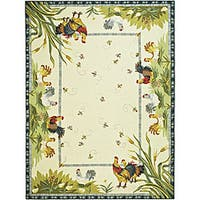 Safavieh Hand-hooked Roosters Ivory Wool Rug - 8'9 X 11'9